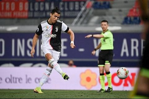 Ronaldo ghi ban vao luoi Bologna