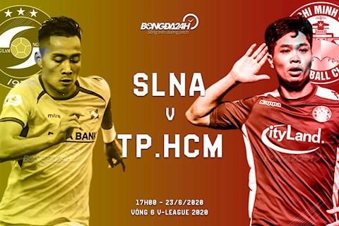 Truc tiep bong da SLNA vs TPHCM 17h00 ngay hom nay 23/6 vong 6 V-League 2020