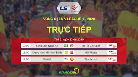 Trực tiếp VLeague hôm nay 2362020 LTD V League mới nhất hình ảnh