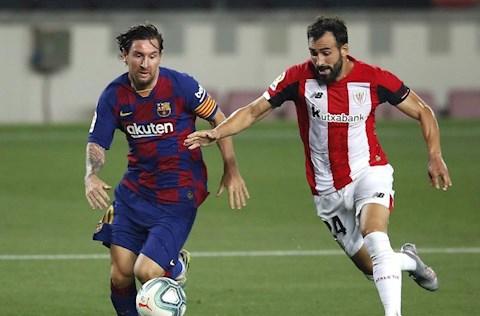 Barca vs Bilbao Messi di bong
