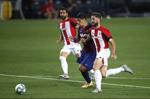 Barca vs Bilbao Suarez co bong