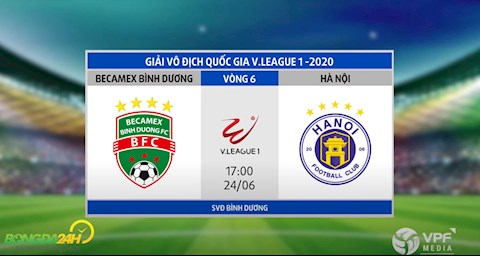 Link xem truc tiep tran dau Binh Duong vs Ha Noi vong 6 V-League 2020 chieu toi nay 19/6