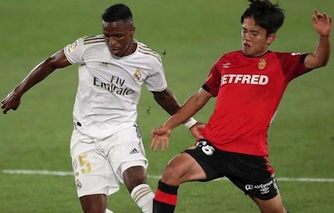 Real thang Mallorca 2-0 Vinicius va Kubo