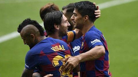 Luis Suarez bất ngờ khuyên Messi ở lại Barca hình ảnh