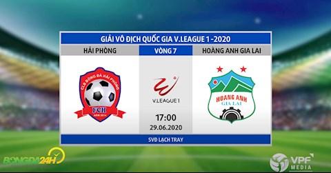Link xem truc tiep tran dau Hai Phong vs HAGL vong 7 V-League 2020 hom nay 29/6