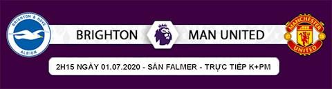 Lịch thi đấu Ngoại hạng Anh Brighton vs MU đêm nay 3062020 hình ảnh 2