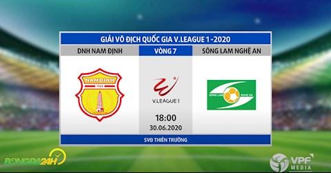 Link xem truc tiep Nam Dinh vs SLNA vong 7 Vleague 2020