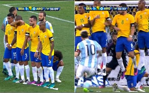 Marcelo quy goi lam hang rao de ngan Messi sut phat