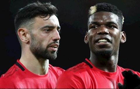 MU kết hợp thế nào giữa Bruno Fernandes và Paul Pogba hình ảnh