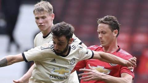 Mưa bàn thắng trong trận đấu tập của Manchester United hình ảnh