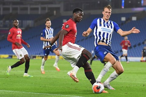 MU thang Brighton Paul Pogba