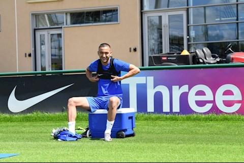 Tiền vệ Hakim Ziyech có buổi tập đầu tiên ở Chelsea hình ảnh