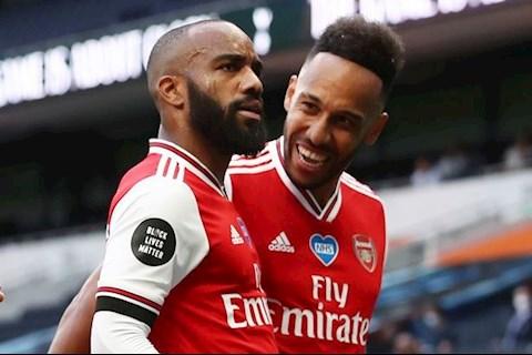 Arsenal an mung Lacazette va Aubameyang