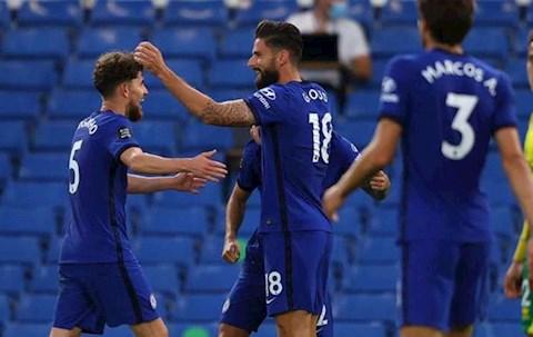 Giroud ghi ban Chelsea 1-0 Norwich
