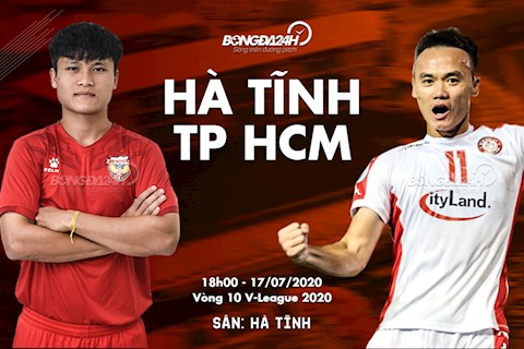 Truc tiep bong da Ha Tinh vs TPHCM 18h00 ngay hom nay 17/7 vong 10 V-League 2020