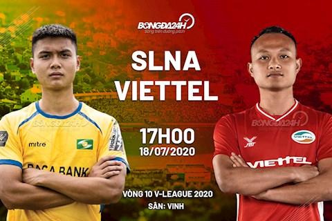 Truc tiep bong da SLNA vs Viettel 17h00 ngay hom nay 18/7 vong 10 V-League 2020
