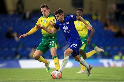 Pulisic Chelsea vs Norwich