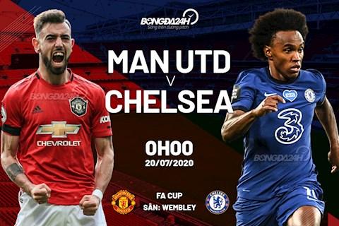 Kết quả bóng đá MU vs Chelsea - Bán kết Cúp FA 20192020 hình ảnh