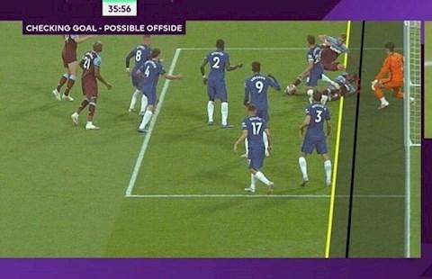 Tinh huong gay tranh cai o tran West Ham vs Chelsea