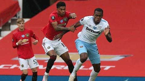 Tiền đạo Marcus Rashford bị chỉ trích sau trận hòa West Ham hình ảnh