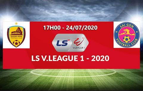 Link xem truc tiep bong da Quang Nam vs Sai Gon vong 11 V-League 2020