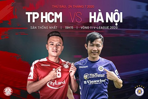 Truc tiep bong da TPHCM vs Ha Noi 19h15 ngay 24/7 vong 11 V-League 2020