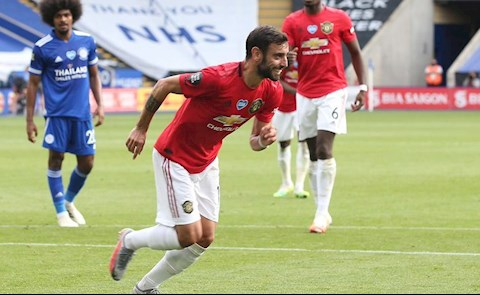 Leicester 0-2 MU Fernandes ghi ban