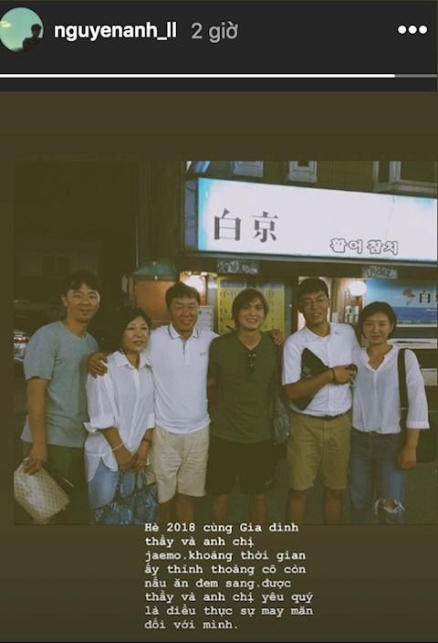 Tiền vệ Tuấn Anh đăng ảnh tri ân ông Chung Hae Soung hình ảnh