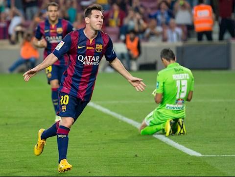 Messi an mung sau ban thang thu hai truoc Granada thang 9 nam 2014