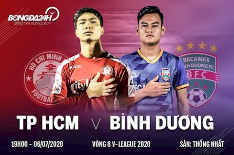 Truc tiep bong da TPHCM vs Binh Duong 19h15 ngay hom nay 6/7 vong 8 V-League 2020