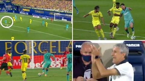 Tiền đạo Lionel Messi có pha xử lý khó tin trước Villarreal hình ảnh