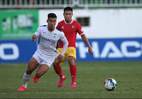 Van Thanh HAGL vs Hong Linh Ha Tinh. Anh: VPF