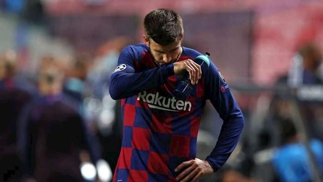 Pique thừa nhận có thể ra đi sau trận thua tủi nhục trước Bayern hình ảnh
