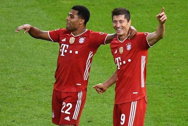 Lewandowski va Gnabry dang dan dau danh sach ghi ban cho Bayern o UCL
