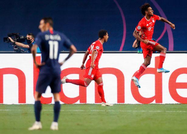 PSG vs Bayern Coman ghi ban