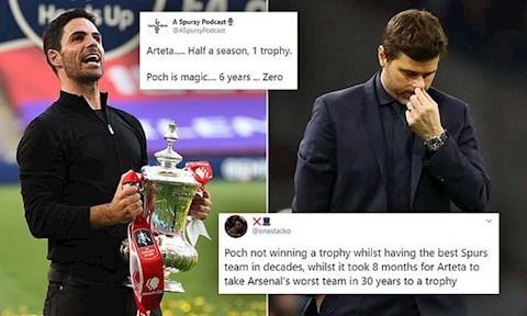 Rời Tottenham, CĐV Arsenal vẫn không để Pochettino được yên hình ảnh 2