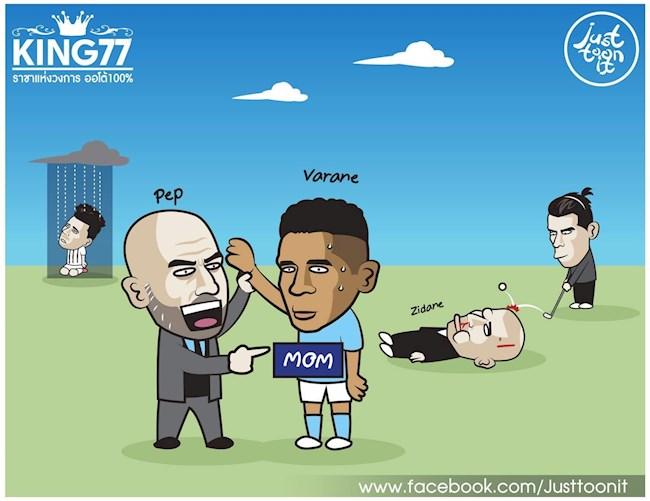 Biếm họa Zidane bầm dập, Hazard hóa cục tạ, Bale vẫn vui vẻ chơi golf hình ảnh 3