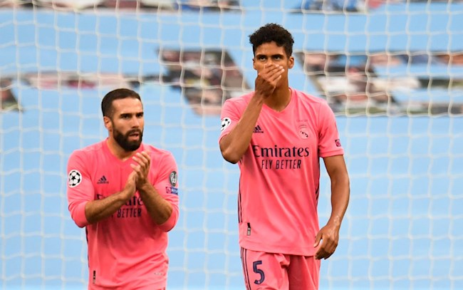 Varane Man City vs Real Madrid