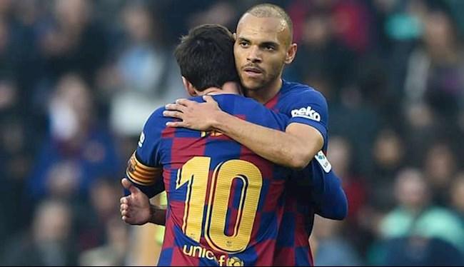 Tiền đạo Martin Braithwaite lên tiếng vụ chiếm áo số 10 của Messi hình ảnh