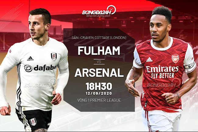 Truc tiep bong da Fulham vs Arsenal vong 1 Ngoai hang Anh 2020/21 luc 18h30 ngay hom nay 12/9