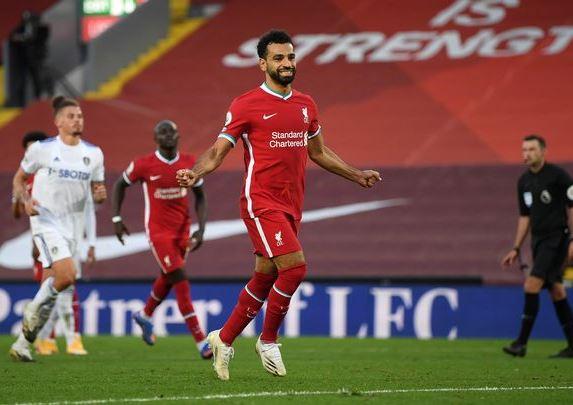 Mo Salah ghi ban cho Liverpool