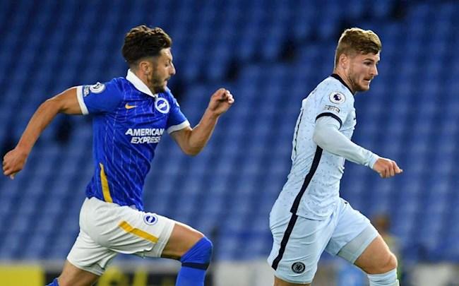 Chelsea vs Brighton Werner di bong
