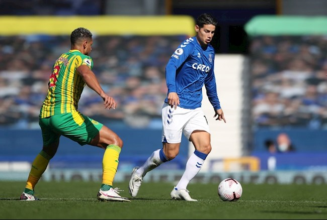Nhu tran thang Tottenham, James Rodriguez tiep tuc la nhac truong trong loi choi cua Everton