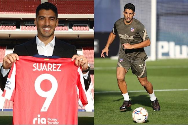 Hình ảnh đầu tiên của Luis Suarez trong màu áo Atletico hình ảnh