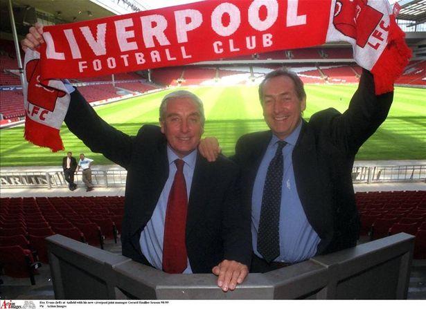 Bo doi bo doi Roy Evans va Gerard Houllier chi co quang thoi gian tai vi ngan ngui o Liverpool