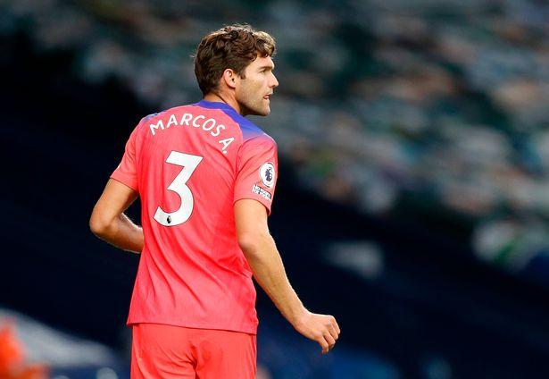 Frank Lampard nổi giận với Marcos Alonso hình ảnh