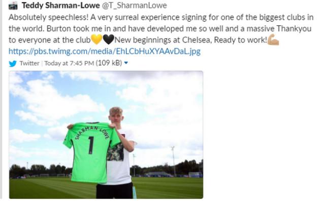 Chính thức Thủ môn Teddy Sharman-Lowe tới Chelsea hình ảnh