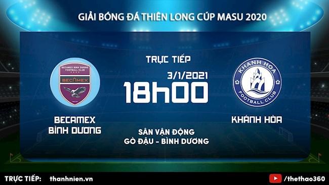 Truc tiep bong da Thien Long Cup 2021: Binh Duong vs Khanh Hoa
