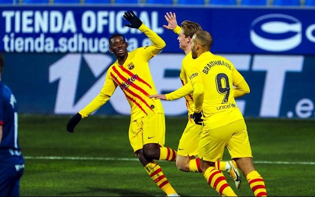 Video ket qua Huesca vs Barca: De Jong ghi ban duy nhat cua tran dau