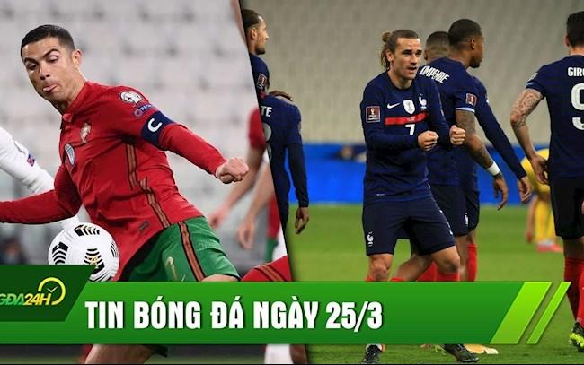TIN BÓNG ĐÁ 25/3: Pháp đánh rơi chiến thắng - Bồ Đào Nha ca khúc khải hoàn